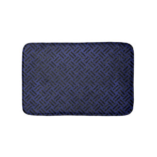 WOVEN2 BLACK MARBLE & BLUE LEATHER (R) BATH MAT