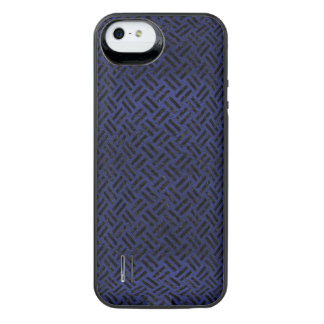 WOVEN2 BLACK MARBLE & BLUE LEATHER (R) iPhone SE/5/5s BATTERY CASE