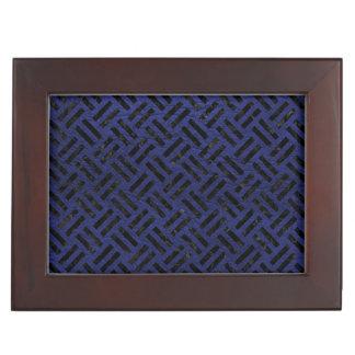 WOVEN2 BLACK MARBLE & BLUE LEATHER (R) KEEPSAKE BOX