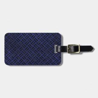 WOVEN2 BLACK MARBLE & BLUE LEATHER (R) LUGGAGE TAG