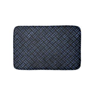 WOVEN2 BLACK MARBLE & BLUE STONE BATH MAT