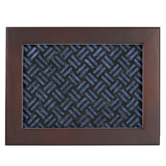 WOVEN2 BLACK MARBLE & BLUE STONE KEEPSAKE BOX
