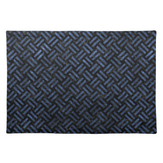 WOVEN2 BLACK MARBLE & BLUE STONE PLACEMAT