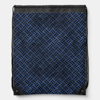 WOVEN2 BLACK MARBLE & BLUE STONE (R) DRAWSTRING BAG
