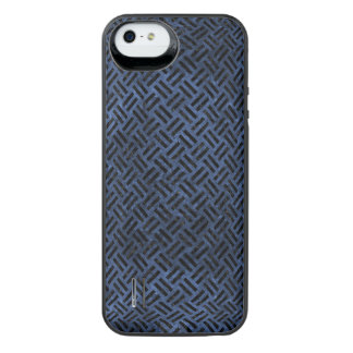 WOVEN2 BLACK MARBLE & BLUE STONE (R) iPhone SE/5/5s BATTERY CASE
