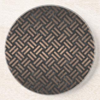 WOVEN2 BLACK MARBLE & BRONZE METAL COASTER