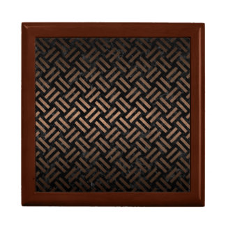 WOVEN2 BLACK MARBLE & BRONZE METAL GIFT BOX