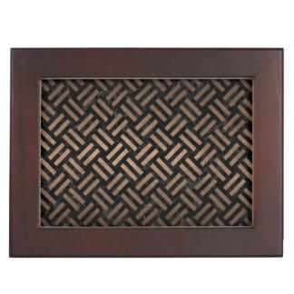 WOVEN2 BLACK MARBLE & BRONZE METAL KEEPSAKE BOX