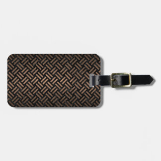 WOVEN2 BLACK MARBLE & BRONZE METAL LUGGAGE TAG