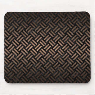 WOVEN2 BLACK MARBLE & BRONZE METAL MOUSE PAD