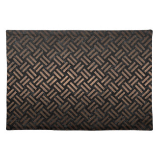 WOVEN2 BLACK MARBLE & BRONZE METAL PLACEMAT
