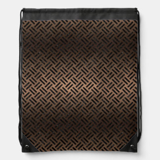 WOVEN2 BLACK MARBLE & BRONZE METAL (R) DRAWSTRING BAG