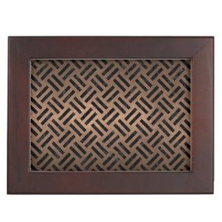 WOVEN2 BLACK MARBLE & BRONZE METAL (R) KEEPSAKE BOX