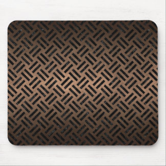 WOVEN2 BLACK MARBLE & BRONZE METAL (R) MOUSE PAD