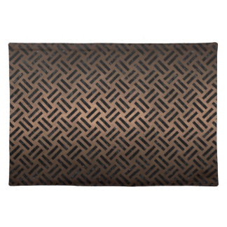 WOVEN2 BLACK MARBLE & BRONZE METAL (R) PLACEMAT