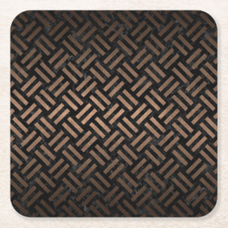 WOVEN2 BLACK MARBLE & BRONZE METAL SQUARE PAPER COASTER