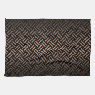 WOVEN2 BLACK MARBLE & BRONZE METAL TEA TOWEL