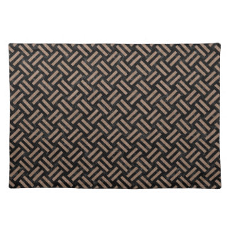 WOVEN2 BLACK MARBLE & BROWN COLORED PENCIL PLACEMAT