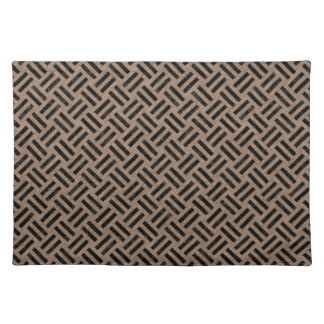 WOVEN2 BLACK MARBLE & BROWN COLORED PENCIL (R) PLACEMAT
