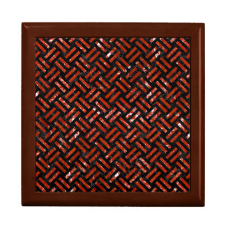 WOVEN2 BLACK MARBLE & RED MARBLE GIFT BOX