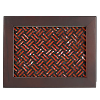 WOVEN2 BLACK MARBLE & RED MARBLE KEEPSAKE BOX
