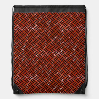 WOVEN2 BLACK MARBLE & RED MARBLE (R) DRAWSTRING BAG
