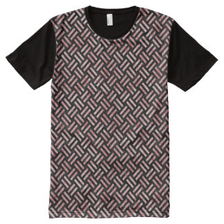 WOVEN2 BLACK MARBLE & RED & WHITE MARBLE All-Over PRINT T-Shirt