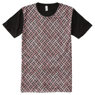 WOVEN2 BLACK MARBLE & RED & WHITE MARBLE (R) All-Over PRINT T-Shirt