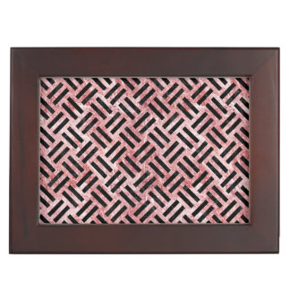 WOVEN2 BLACK MARBLE & RED & WHITE MARBLE (R) KEEPSAKE BOX