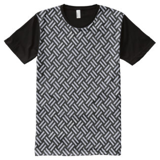 WOVEN2 BLACK MARBLE & WHITE MARBLE All-Over PRINT T-Shirt