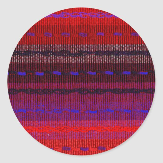 Woven Bands Classic Round Sticker