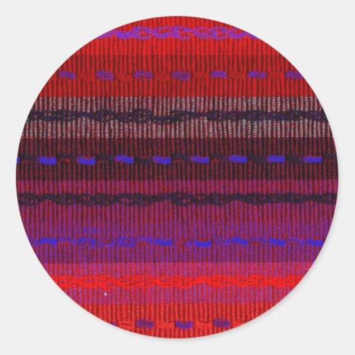 Woven Bands Round Sticker