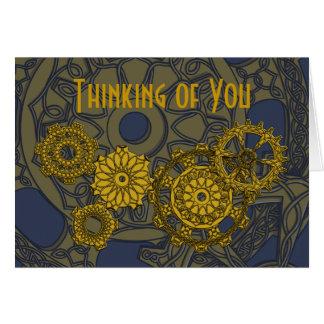 Woven Clockwork Card