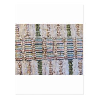Woven material postcard