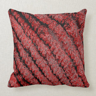 WOVEN MINK PILLOW RED