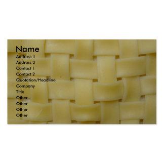 Woven Noodles Business Card Templates