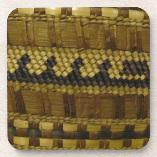 Woven NW Coast Indian Fiber Art Coaster