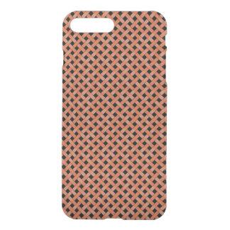Woven Rattan Pattern Orange on Custom Black iPhone 8 Plus/7 Plus Case