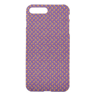 Woven Rattan Pattern Purple on Custom Orange iPhone 8 Plus/7 Plus Case