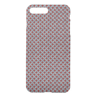 Woven Rattan Pattern Silver on Custom Red iPhone 8 Plus/7 Plus Case