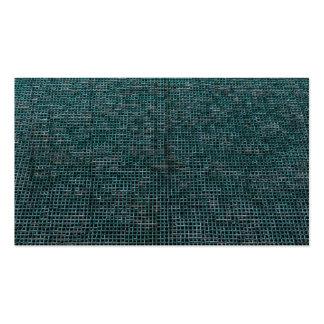 woven structure aqua business cards