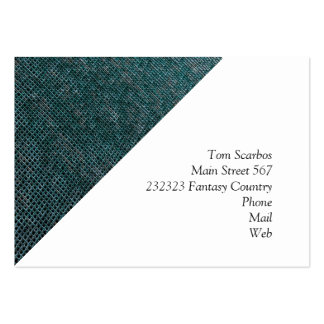 Woven Structure aqua Business Card Template