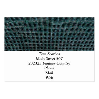 Woven Structure,aqua Pack Of Chubby Business Cards