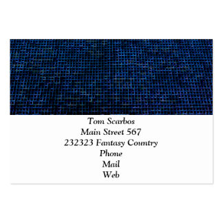 woven structure blue pack of chubby business cards