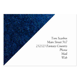 woven structure blue business card