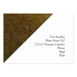 woven structure golden business card templates