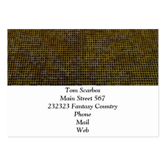 woven structure golden business cards