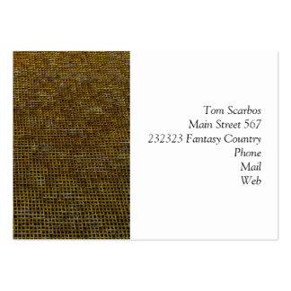 woven structure golden business card template