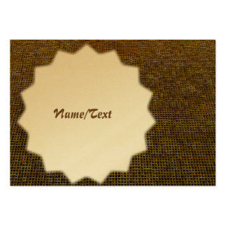 woven structure golden pack of chubby business cards