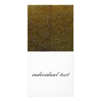 woven structure golden photo greeting card